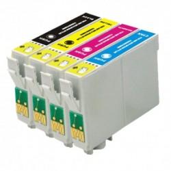 Pack 4 Tinteiros Epson Compatível T0551/2/3/4