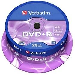 DVD+R Verbatim 16X - Pack 25