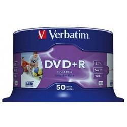 DVD+R Verbatim 16X Imprimíveis - Pack 50