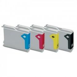 Pack 4 Tinteiros Compatíveis Brother LC970 / LC1000