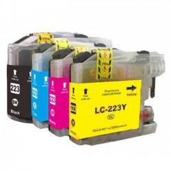Pack 4 Tinteiros Compatíveis Brother LC221 / LC223