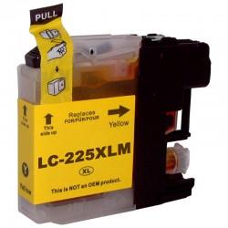 Tinteiro Brother Compatível LC225 XL Amarelo