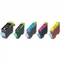 Pack 5 Tinteiros Canon Compatíveis PGI-5BK/CLI-8BK/CLI-8C/CLI-8M/CLI-8Y