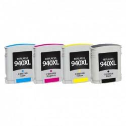 Pack 4 Tinteiros Compatíveis HP 940 XL