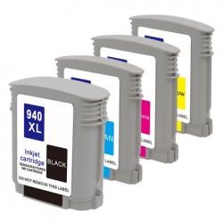 Conjunto 4 Tinteiros HP 88 Compatíveis