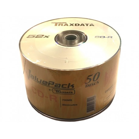 CD-R Traxdata ValuePack 52X - Pack 50
