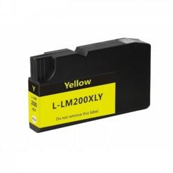 Tinteiro Lexmark Compatível Nº 200 XL Amarelo (14L0177)