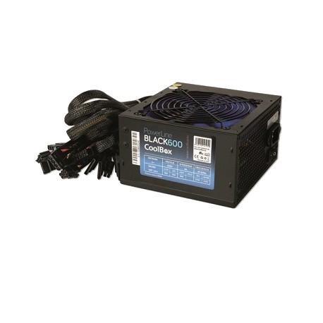 Fonte de Alimentação ATX 600W COOLBOX Powerline Black PCI-E