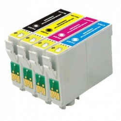 Pack 4 Tinteiros Epson T0711/2/3/4 T0891/2/3/4 Compatíveis (T0715 / T0895)