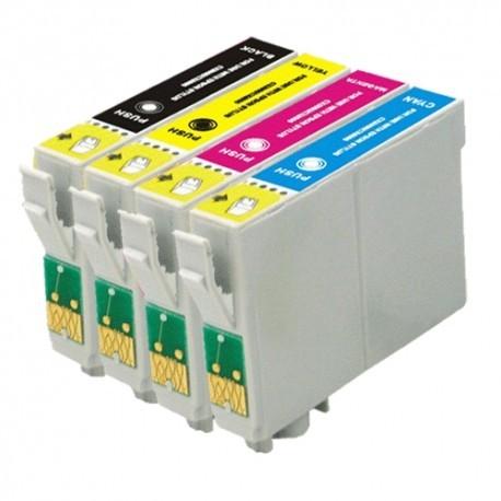 Conjunto 4 Tinteiros Compatíveis Epson T0711/2/3/4 T0891/2/3/4 (T0715 / T0895)