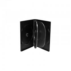 Capa DVD 6 Discos 22mm Preta