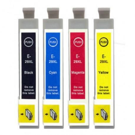 Pack 4 Tinteiros Epson 29 XL Compatíveis - T2991/2/3/4
