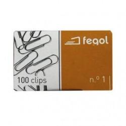 CX.C/100 Clips Nº1 FEGOL 6,2X22,5MM