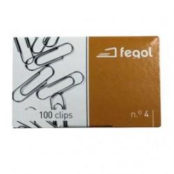CX.C/100 Clips Nº4 FEGOL 10X33MM
