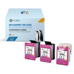 Multipack 3 Tinteiros G&G HP Compatíveis 304 XL Preto