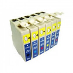 Pack 6 Tinteiros Compatíveis Epson T0801/2/3/4/5/6