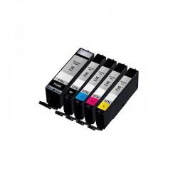 Pack 5 Tinteiros Canon Compatíveis PGI-570BK/CLI-571BK/CLI-571C/CLI-571M/CLI-571Y