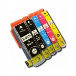 Pack 5 Tinteiros Epson 26 XL - ref. T2621/T2631/2/3/4